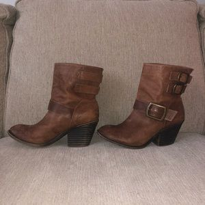 Lucky Brand Shoes - Distressed leather Lucky Brand boots sz7